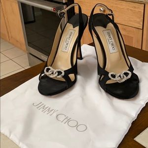 Jimmy Choo women's heel size 39. Black satin